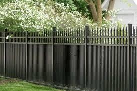 Black Aluminum Garden Fence Gate Chicago Il