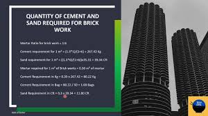 calculation to find out cement and sand
