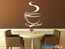 Coffee Cup Tea Cup Kitchen Vinyl Wall Decal Graphics