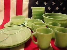 lot of jadeite fire king glassware