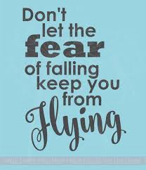 Don T Let Fear Keep You From Flying Vinyl Stickers Wall Decals Quotes