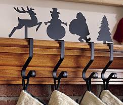 Wrought Iron Stocking Hanger Snowman Or Christmas Tree Stocking Hangers And Hooks