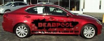 Deadpool Banner Back Window Vinyl Decal Car Truck Sticker Anti Hero 2 Any Size 2 99 Picclick
