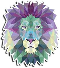 Amazon Com Crystal Lion Sticker Geometric Stickers Waterbottle Sticker Tumblr Stickers Laptop Stickers Vinyl Stickers Kitchen Dining