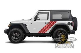 Jeep Jl Wrangler Tire Tracks Decals 2019 2020 Side Stickers