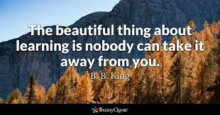 b b king the beautiful thing about learning is nobody