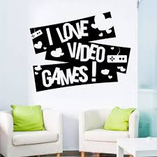 Gaming I Love Video Games Vinyl Decal Gamer Wall Stickers Boy Bedroom Decor Game Zone Art Decals Mural Removable For Kids A110 Wall Stickers Aliexpress