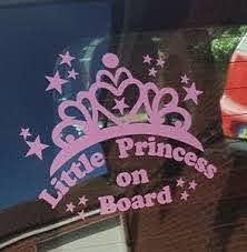Little Princess On Board Car Window Vinyl Sticker Decal In 12 Colours Ebay