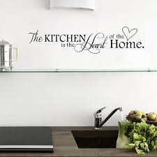 Home Wall Decor Black Kitchen Quotes Removable Mural Art Wall Sticker Diy Wall Decal Size 57cm By 14cm Color Black Wish