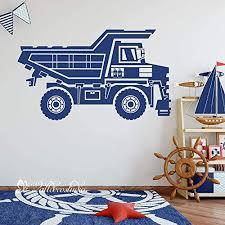 Amazon Com Construction Car Wall Decal Cement Truck Dump Truck Wall Decal Construction Vehicles Truck Wall Sticker Vinyl Decal Art For Boy Room Handmade