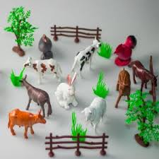 Farm Animals Toy For Children With Fence And Trees Buy Online Toys At Best Prices In Egypt Souq Com