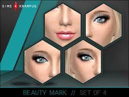 sims4krus beauty mark set of 4