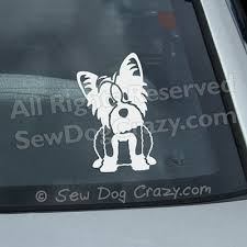 Kawaii Yorkshire Terrier Decal Sew Dog Crazy