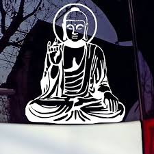 Buddha Vinyl Stickers Car Window Laptop Tablet Truck Car Body Decal White Wish