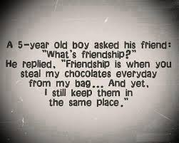 a year old boy asked his friends whats friendship click pic