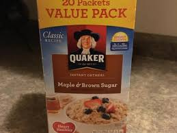 maple brown sugar instant oatmeal