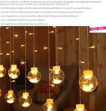 Dây đèn led trang trí bóng tròn 12 bóng nhiều màu trang trí lung linh đèn  trang trí lễ tết siêu đẹp