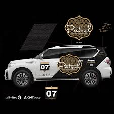 New Chrome Platinum Badge Emblem Sticker Decal For Nissan Patrol Y62 2011 2018