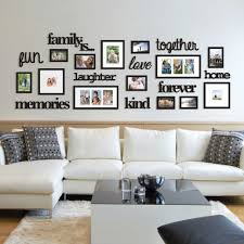 Wallverbs 22 Piece Family Is Photo Frame Set Bed Bath Beyond Living Room Photos Wall Decor Living Room Family Wall Decor