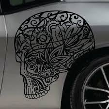 Sugar Skull Rose Graphic Tailgate Hood Window Decal Vehicle Truck Car Suv Vinyl Auto Parts And Vehicles Car Truck Graphics Decals Magenta Cl