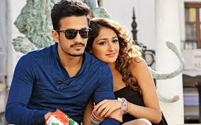 beautiful couple akhil and sayesha