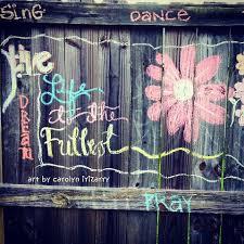 Backyard Fence Art With Crayola Washable Sidewalk Chalk Fence Art Sidewalk Chalk Sidewalk Chalk Art