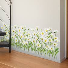Shijuekongjian Grass Baseboard Stickers Diy Small Daisy Flowers Wall Decals For House Living Room Bedroom Nursery Decoration Wall Stickers Aliexpress