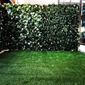 Amazon Com Colourtree Expandable Rectractable Faux Artificial Ivy Trellis Hedge Fence Screen Privacy Wall Screen Commercial Grade 150 Gsm Heavy Duty 3 Years Warranty 1 Single Sided Leaves Garden Outdoor
