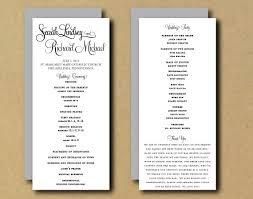 free printable diy wedding programs