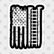 railroad spike american flag train gift