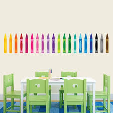 Colorful Crayons Wall Decals Kids Crayon Wall Stickers Sweetums Signatures