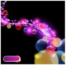 تصميم فقاعات دائرية ملونة خلفية مميزة ملف مفتوح