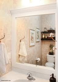 how to frame a bathroom mirror how to