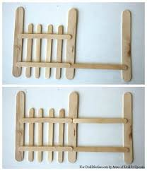 Popsicle Stick Fence Idea Make Rustic For Ice Fishing Area Diy Christmas Village Halloween Fence Christmas Villages