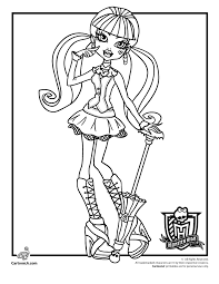 monster high coloring pages woo jr