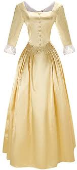 Amazon.com: Cos-Animefly Hamilton Peggy Costume Dress Colonial Lady  Corset-Style Ball Gown Victorian Medieval Dress: Clothing