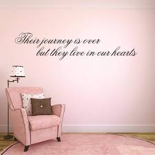Wall Decal Sale Their Journey Is Over But They Live In Our Hearts Memorial Quote Size 14 Inches X 28 Inches 22 Colors Available Amazon Com