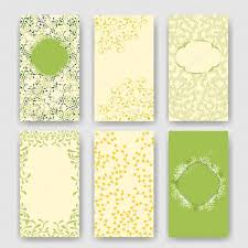 Set Of Perfect Wedding Templates With Green Floral Theme Ideal