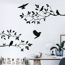 Close To Nature Bird On Tree Branch Wall Sticker Creative Wall Art Decal Living Room Kids Room Removable Bird Wall Paper Buy At The Price Of 2 12 In Aliexpress Com Imall Com