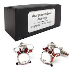 drum drum kit novelty cufflinks