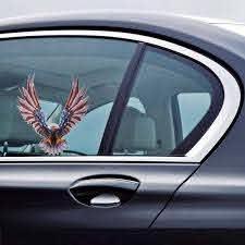 6 6 75 Inch Vinyl Car Usa Eagle Wings United States Flag Bumper Window Stickers Decal Alexnld Com