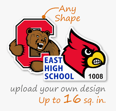 Custom Shape Window Decal Louisville Cardinals Png Free Transparent Clipart Clipartkey
