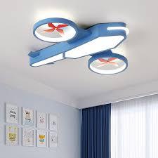 Big Offer 22fe Creative Cartoon Aircraft Ceiling Lights For Kids Bedroom Cloud Ceiling Lamp Children Room Decor Boy Plafon Led Ceiling Light Cicig Co