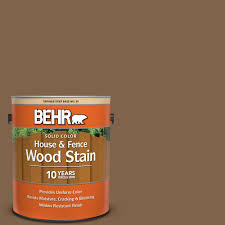Behr 1 Gal Sc 109 Wrangler Brown Solid Color House And Fence Exterior Wood Stain 03001 The Home Depot