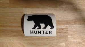 Bear Hunter Black Bear Hunting Vinyl Decal 14 Colors And 10 Sizes To Choose Sticker Truck Boat Phone Laptop Decal In 2020 Black Bear Hunting Kayak Decals Vinyl Decals