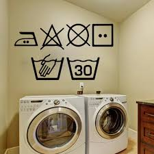 Laundry Symbols Wall Art Decal Kitchen Washing Room Sign Wall Sticker Pvc Decal Vinyl Home Decoration Wall Tattoo Stickers For Bedroom Walls Removable Stickers For Decorating Walls From Joystickers 11 04 Dhgate Com