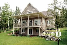 sloped lot house plans and hillside