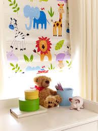 Safari Multi Roman Blind Childrens Curtains Kid Room Decor Kids Curtains