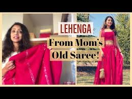 Lehenga From Mom's Old Saree!   How to REUSE OLD SAREE   Himani Aggarwal -  YouTube