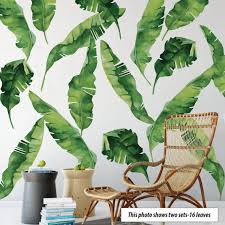 banana leaves wall decals eco friendly